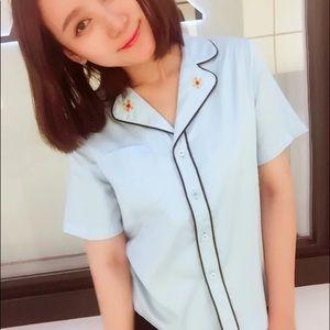 Brand new blue pattern shirt